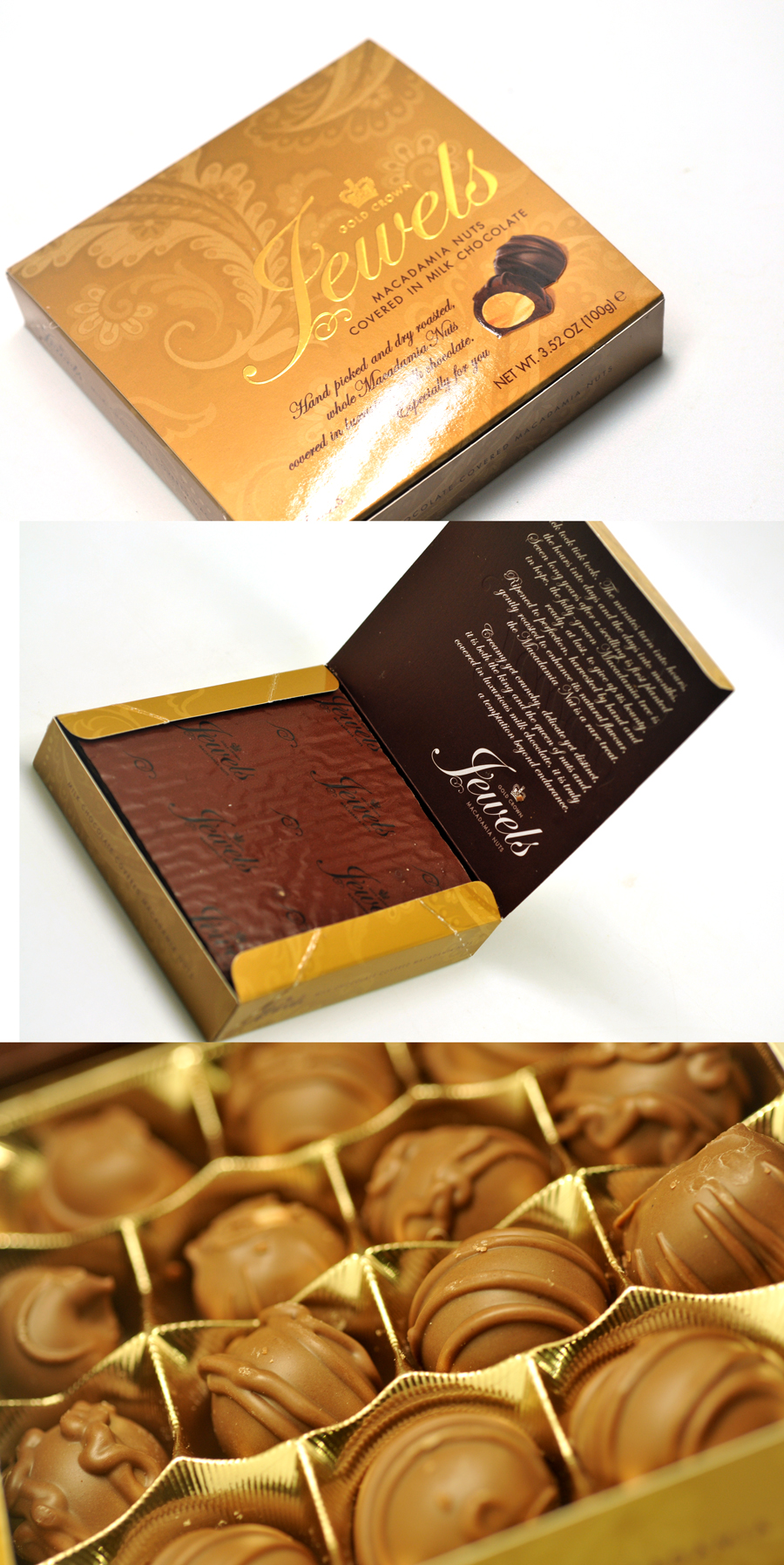 Gold Crown Chocolate box