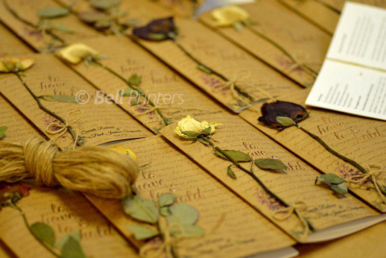 Wedding Order of Service booklet