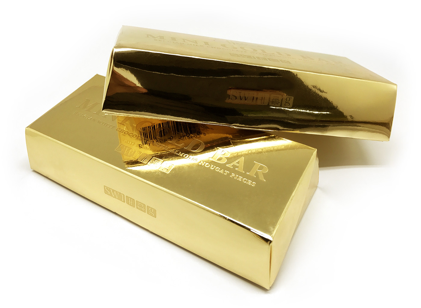 Harrods Gold Bar chocolate packaging