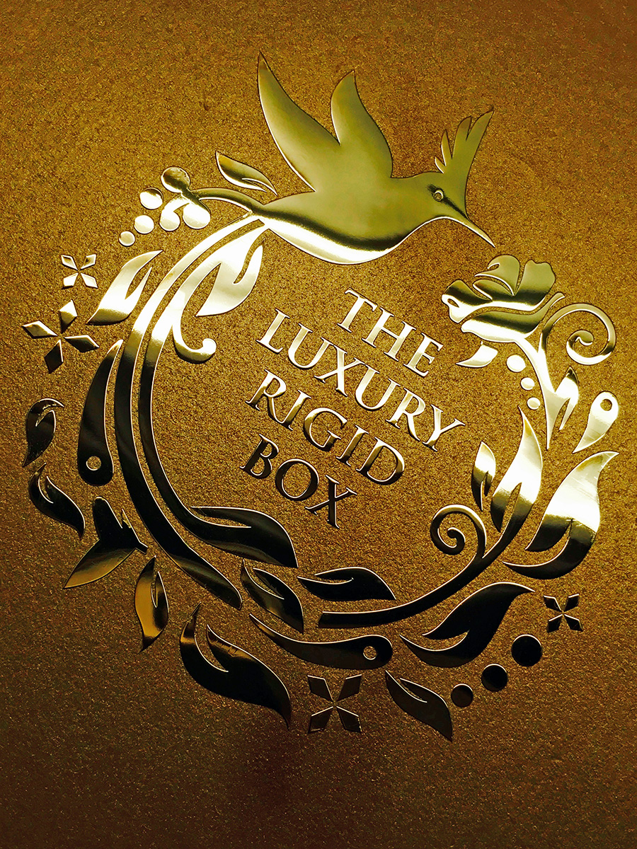 Luxury Rigid Box Birdie Sticker