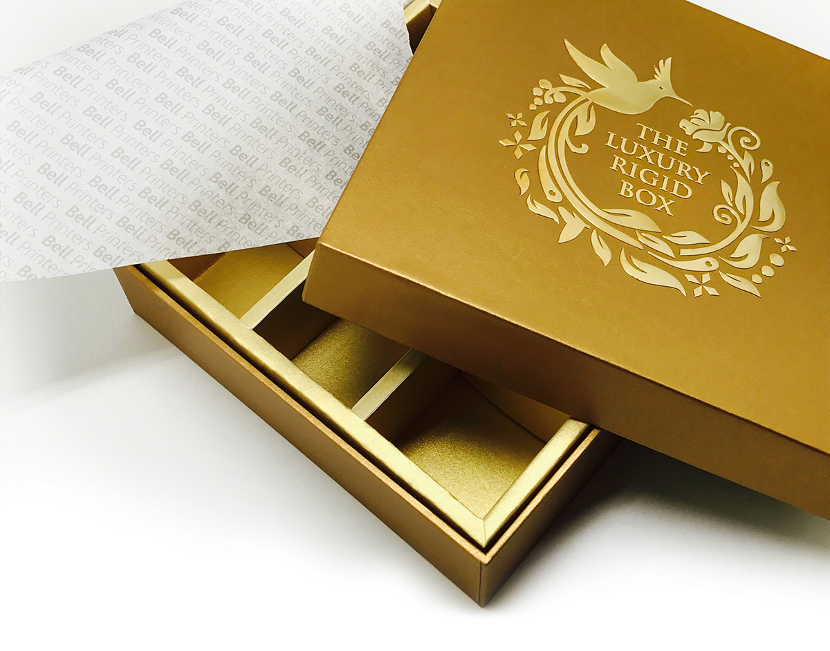 Luxury Rigid Box Gold Sticker -1