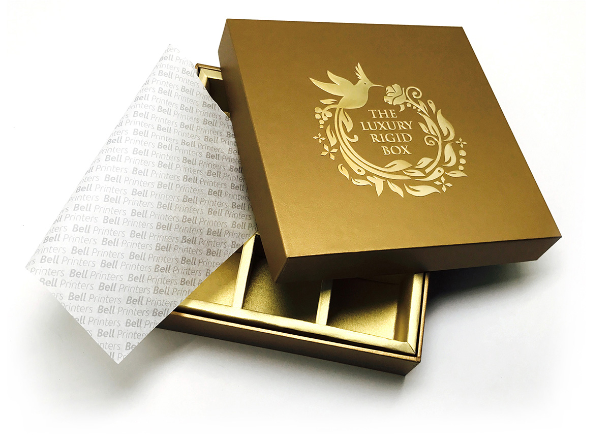 Luxury Rigid Box Gold from India