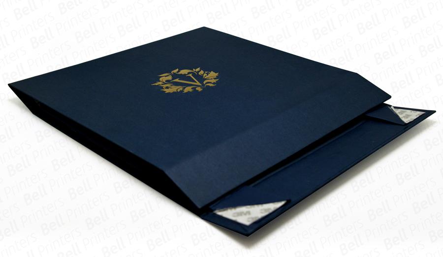 Navy-Blue-Foldable-Garments-Rigid-Box-folded-flat.